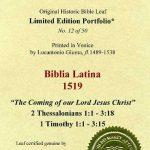 Biblia Sacra - 1519 - 1 TIMOTHY 1:1-3:5