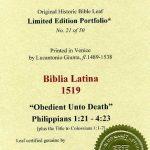 Biblia Sacra - 1519 - PHILIPPIANS 1:21-4:23
