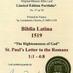 Biblia Sacra - 1519 - ROMANS 1:1-4:8