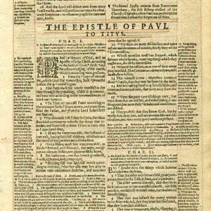 Geneva – 1601 – TITUS (all) + PHILEMON 1-12