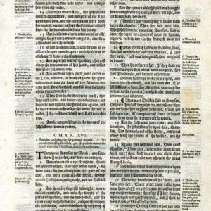 Geneva – 1616 – JUDGES 15:13-18:2