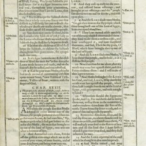 King James – 1612 – EXODUS 30-32