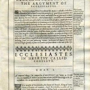 Douay-Rheims OT – 1635 – ECCLESIASTES 1
