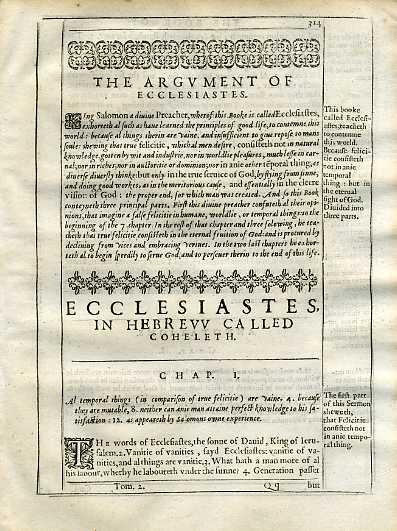 Douay-Rheims OT - 1635 - ECCLESIASTES 1