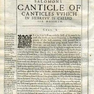 Douay-Rheims OT – 1635 – CANTICLES 1
