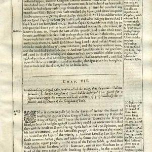 Douay-Rheims OT – 1635 – ISAIAH 6-7