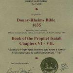 Douay-Rheims OT - 1635 - ISAIAH 6-7