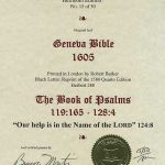 Geneva - 1605 - PSALMS 119:165-128:4