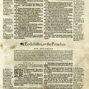 Geneva – 1605 – ECCLESIASTES 1:1-2:22