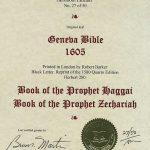 Geneva - 1605 - HAGGAI 1:1-2:24, and ZECHARIAH 1:1-3