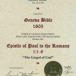 Geneva - 1605 - ROMANS 1:1-9