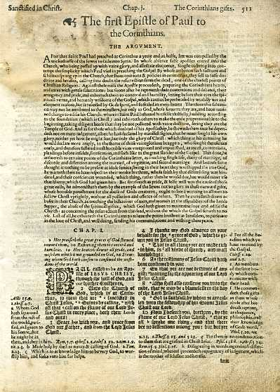 Geneva - 1605 - 1 CORINTHIANS 1:1-2:12