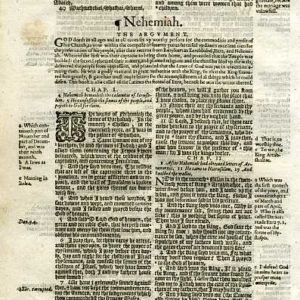 Geneva – 1605 – NEHEMIAH 1:1-2:7