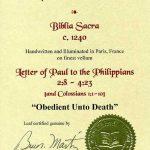 Biblia Sacra - 1250 - PHILIPPIANS 2:8-4:23