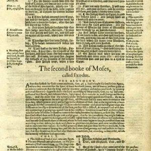 Geneva – 1605 – EXODUS, complete 19-Leaf-Set
