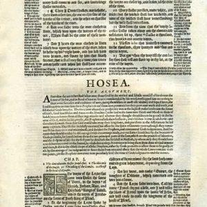 Geneva – 1595 – HOSEA 1:1-2:21
