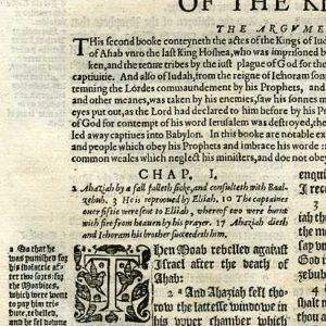 Geneva – 1595 – 2 KINGS 1:1-2:9