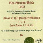 Geneva - 1595 - OBADIAH 1:1-6