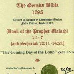 Geneva - 1595 - MALACHI 1:1-7
