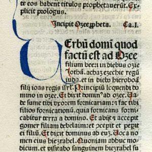 Biblia Sacra – 1479 – HOSEA 1