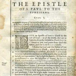 Douay-Rheims NT – 1600 – EPHESIANS 1:1-23