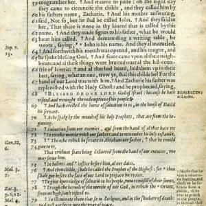 Douay-Rheims NT – 1600 – LUKE 1:56-80