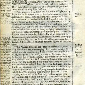 Douay-Rheims NT – 1600 – JOHN 20:1-17