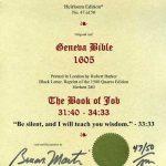 Geneva - 1605 - JOB 31:40-34:33
