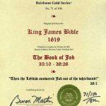 King James - 1619 - JOB 35:10-38:26