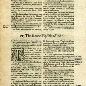 King James – 1619 – 2 JOHN Title (whole Book)