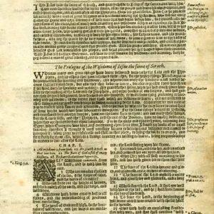 King James – 1625 – ECCLESIASTICUS 1-3