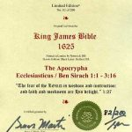 King James - 1625 - ECCLESIASTICUS 1:1-3:16 (Apocrypha)