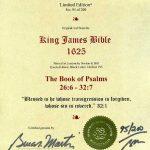 King James - 1625 - PSALMS 26:6-32:7