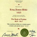 King James - 1625 - PSALMS 48:9-54:7