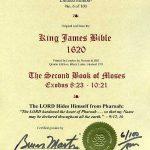 King James - 1620 - EXODUS 8:23-10:21
