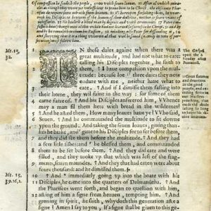 Douay-Rheims NT – 1600 – MARK 8:1-33
