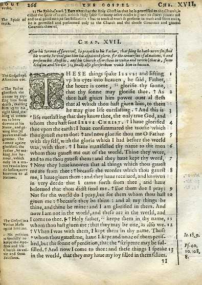 Douay-Rheims NT - 1600 - JOHN 16:21-17:13