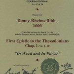 Douay-Rheims NT - 1600 - 1 THESSALONIANS 1:1-10