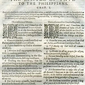 Rheims (Fulke's) – 1601 – PHILIPPIANS 1:1-17, w