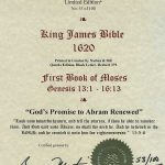 King James - 1620 - GENESIS 13:1-16:13