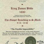 King James - 1620 - MARK 9:13-10:46