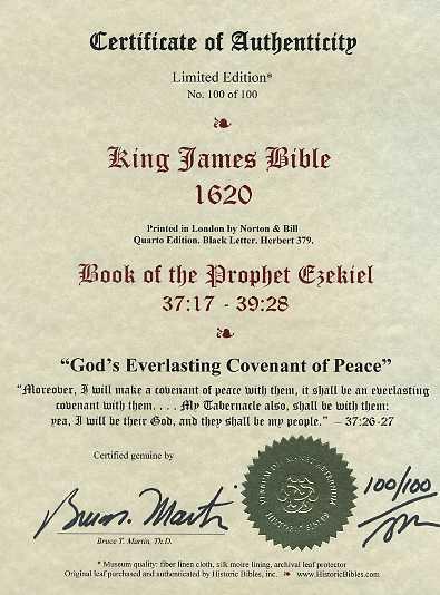 King James - 1620 - EZEKIEL 37:17-39:28