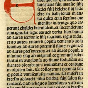 Biblia Sacra – 1482 – BARUCH 1:1-2:16