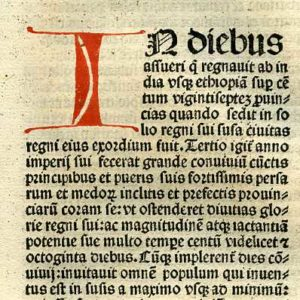 Biblia Sacra – 1482 – ESTHER 1 Title