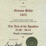 Geneva - 1605 - ACTS 21:20-23:15