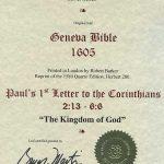 Geneva - 1605 - 1 CORINTHIANS 2:13-6:7