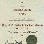 Geneva - 1605 - 1 CORINTHIANS 9:1-11:14
