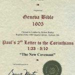 Geneva - 1605 - 2 CORINTHIANS 1:23-5:10