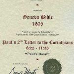 Geneva - 1605 - 2 CORINTHIANS 8:22-11:33