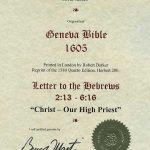 Geneva - 1605 - HEBREWS 2:13-6:16
